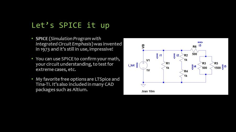 Electronics 101     v2 0 Jean Fran    ois Duval   Palash Nandy MIT MAS863     Let s SPICE it up SPICE  Simulation Program with Integrated Circuit  Emphasis  was invented in