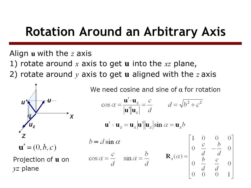 Geometric Transformations