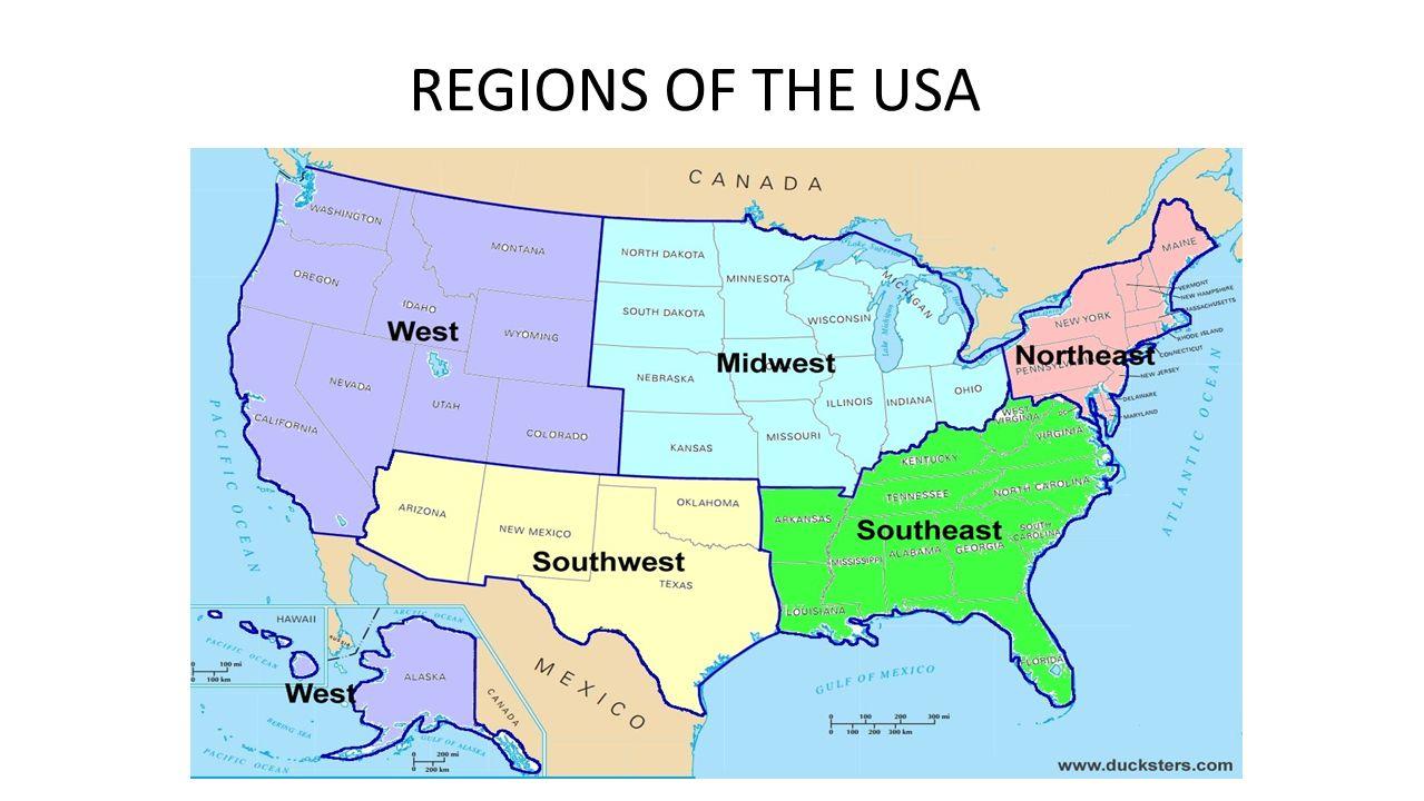 Map United States Northeast Region