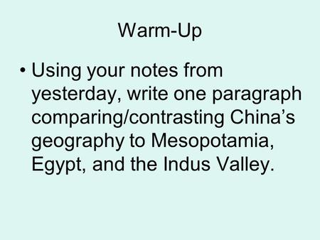 Early China-Chapter 2 Mrs. Dell. - ppt video online download