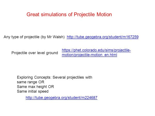 PROJECTILE MOTION Chapter 3, sections , ppt video online ...