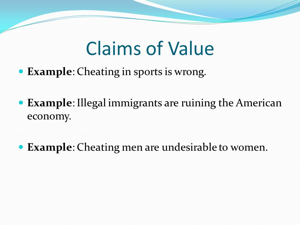 Just how to Write a Claim of Value Essay