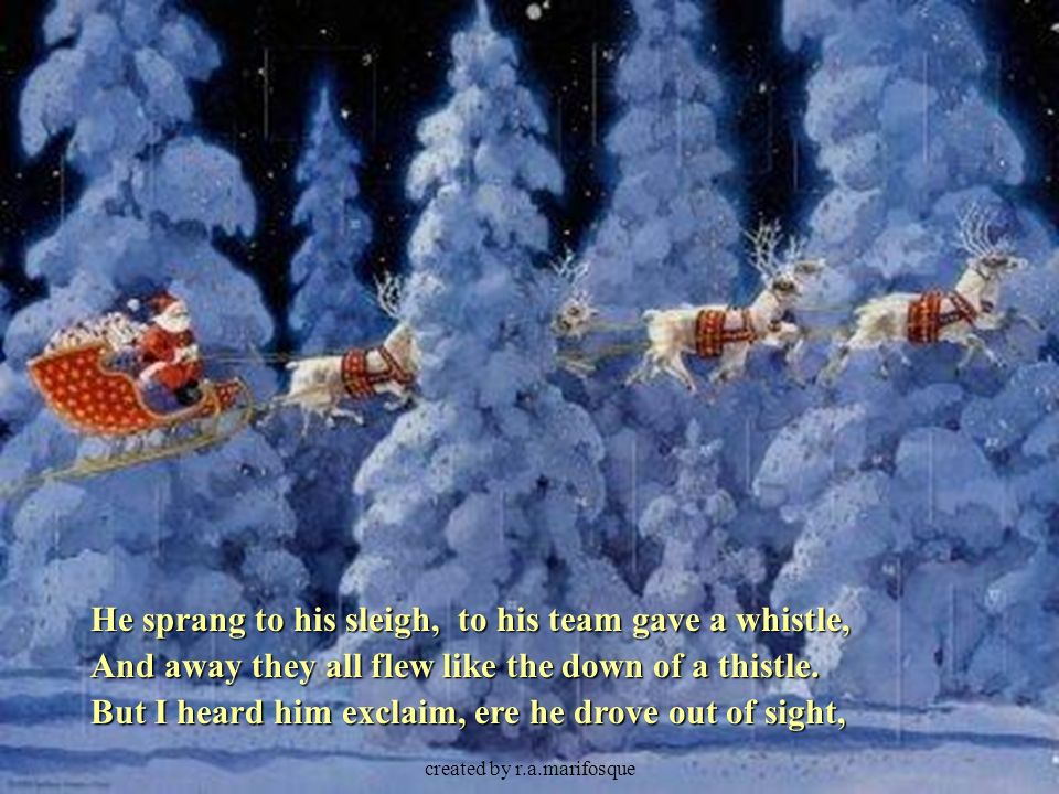 I All Exclaim Christmas Heard And Goo And All Out Him He Rode Sight Merry And