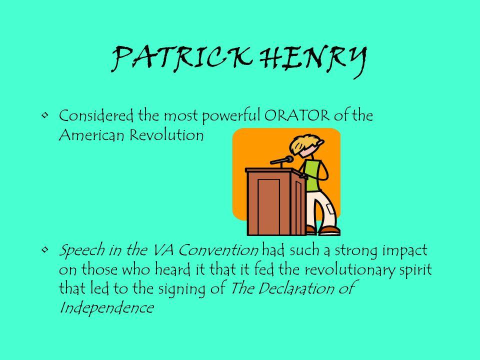 patrick henry declaration of independence