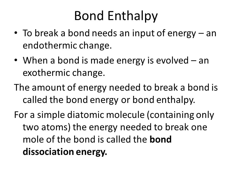 Bond Dissociation Energy Formula