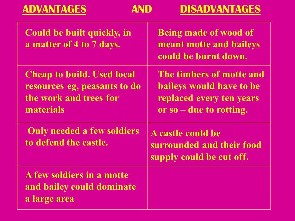 11 Advantages And Disadvantages The Development Of Castles Ppt Online