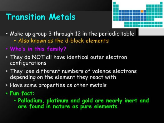 Fun facts about the history of periodic table periodic element families ppt urtaz Gallery