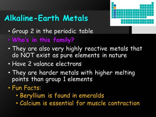 Facts about alkaline earth metals on the periodic table periodic 8 alkaline earth metals element families ppt urtaz Choice Image