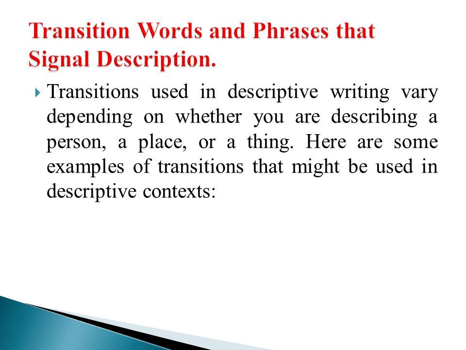 Examples Descriptive Good Essay