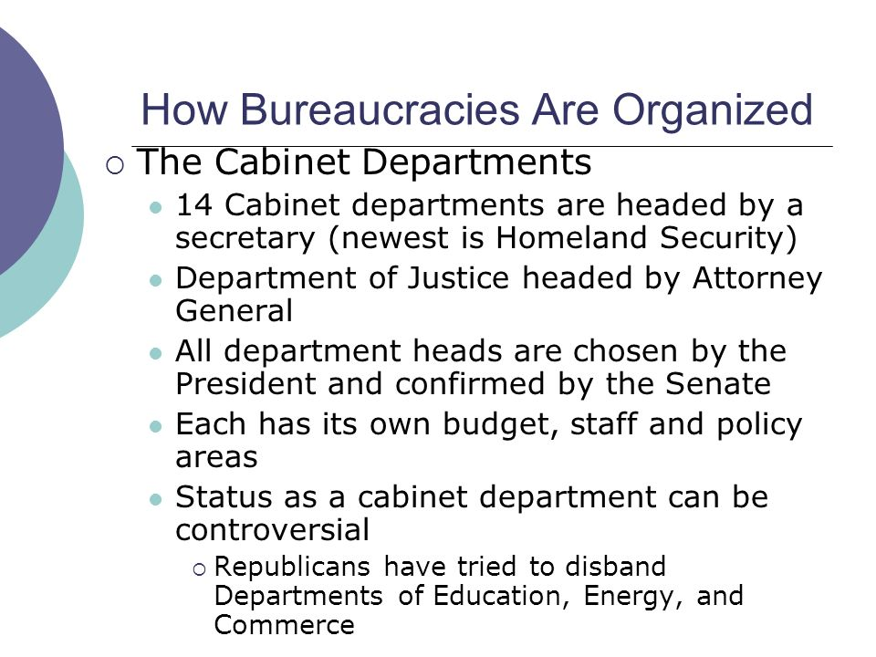 How Are Cabinet Departments Organized Functionalities Net