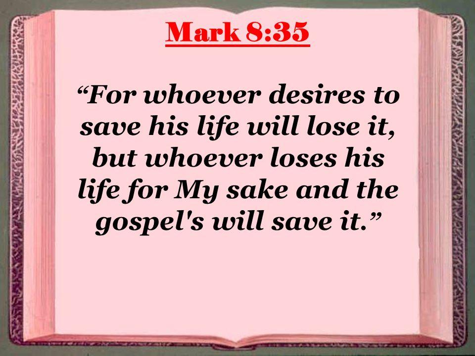 Kuvahaun tulos haulle Mark 8:35
