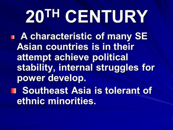 GEOGRAPHY Southeast Asia is located along strategic ...