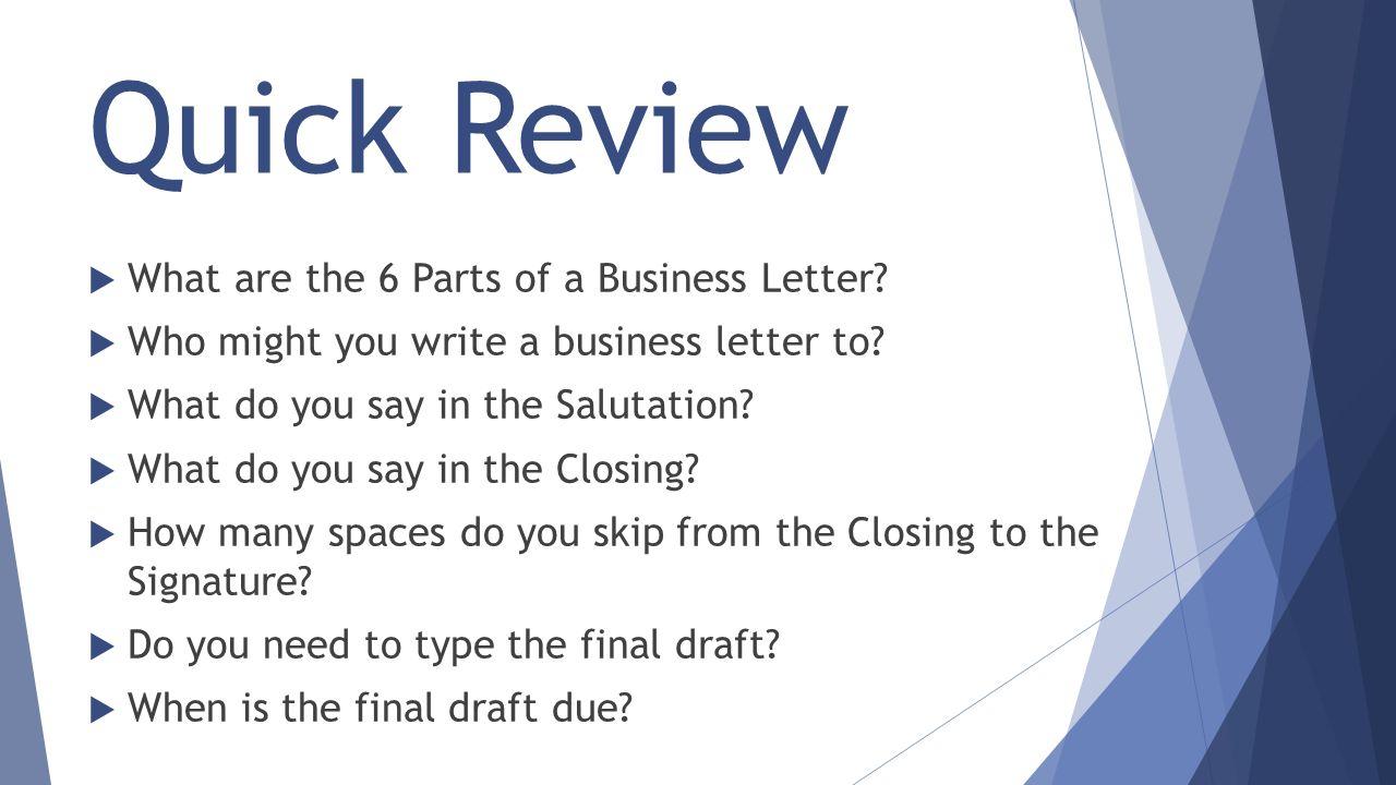 6 Parts Of A Business Letter Honghankk