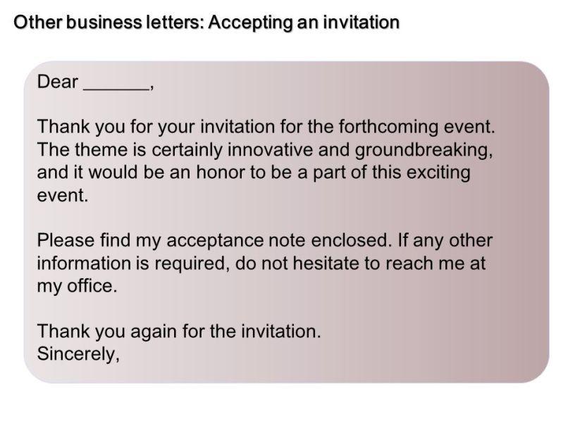 Accepting invitation letter informal invitationjpg sample business letters inquiry ppt online stopboris Choice Image