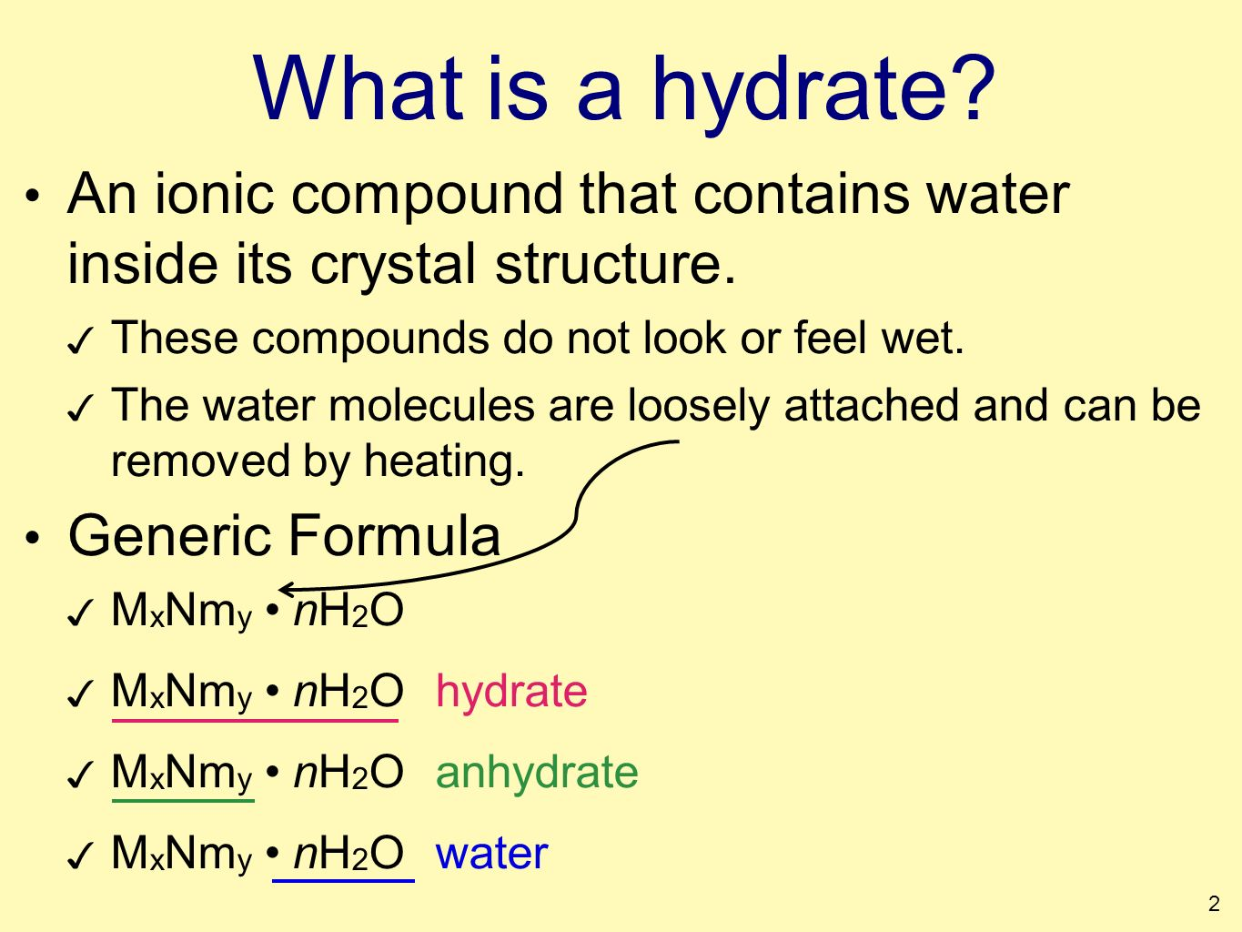 Hydrates Percent Composition Empirical Formula Naming