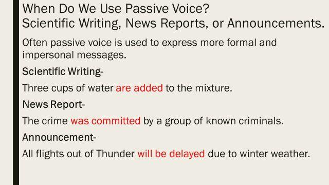 Lesson 13 Passive Voice. - ppt video online download