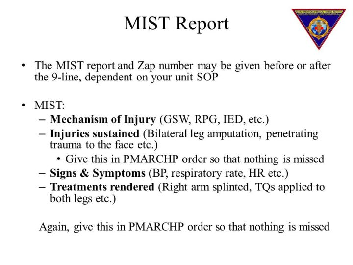 Tactical Combat Casualty Care Ppt Medevac Card 9 Line
