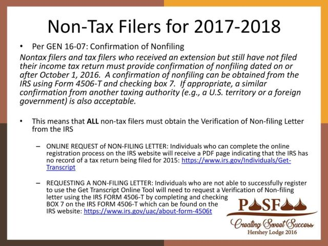How To Request Irs Verification Of Non Filing Letter 2017 18