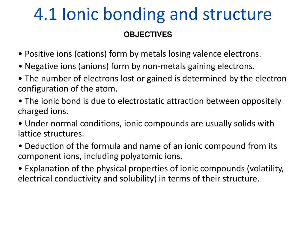 Ib Chemistry Topic 4 Bonding Higher Level