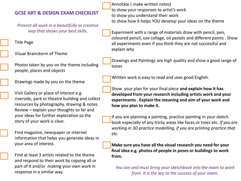 Gcse Artysis And Annotation Guide Sheets In Art A