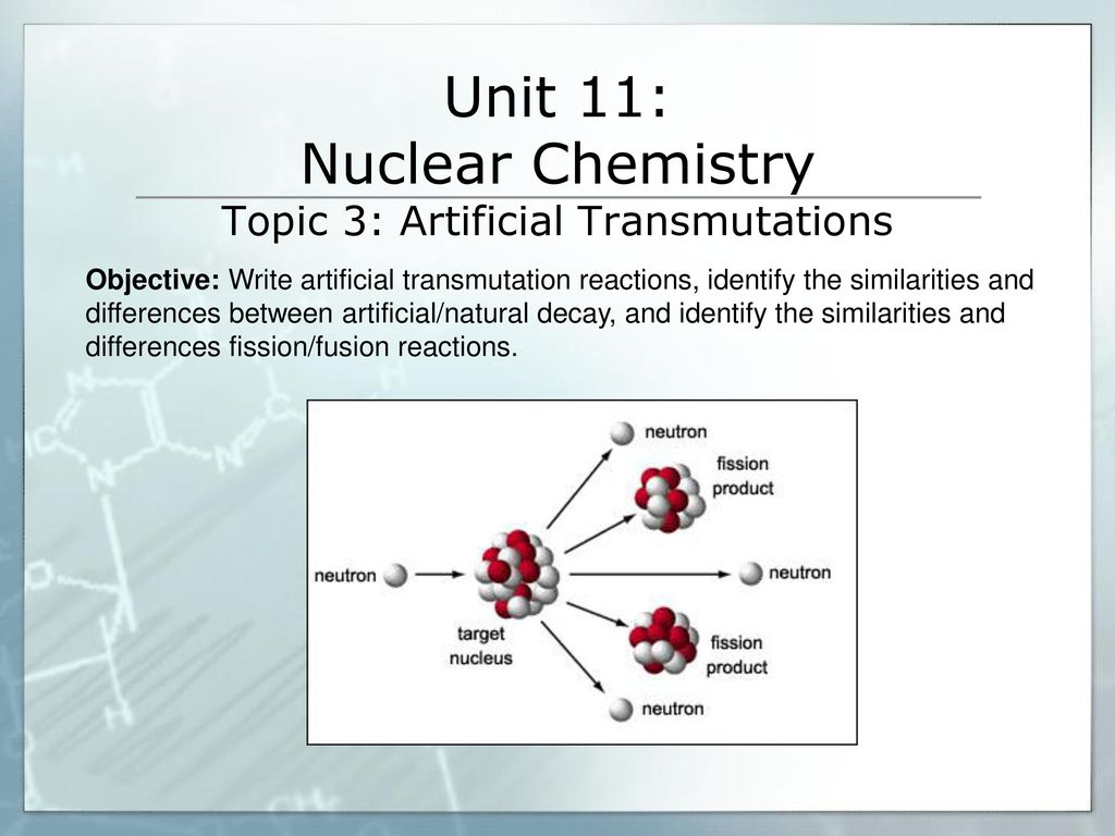 Unit 11 Nuclear Chemistry Topic 1 Natural Radioactivity