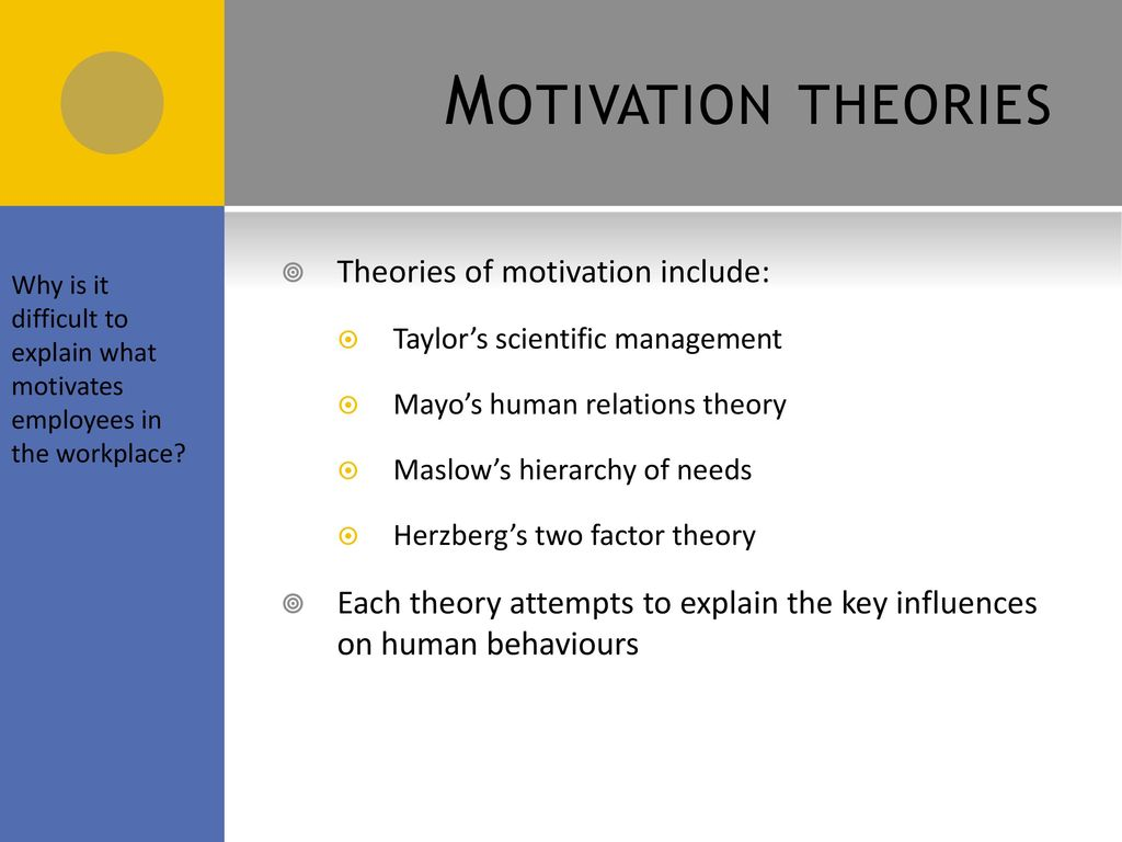 Motivational Theories In The Workplace