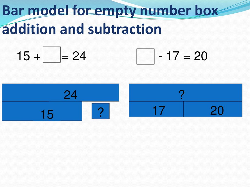 Addition Bar Models Worksheet