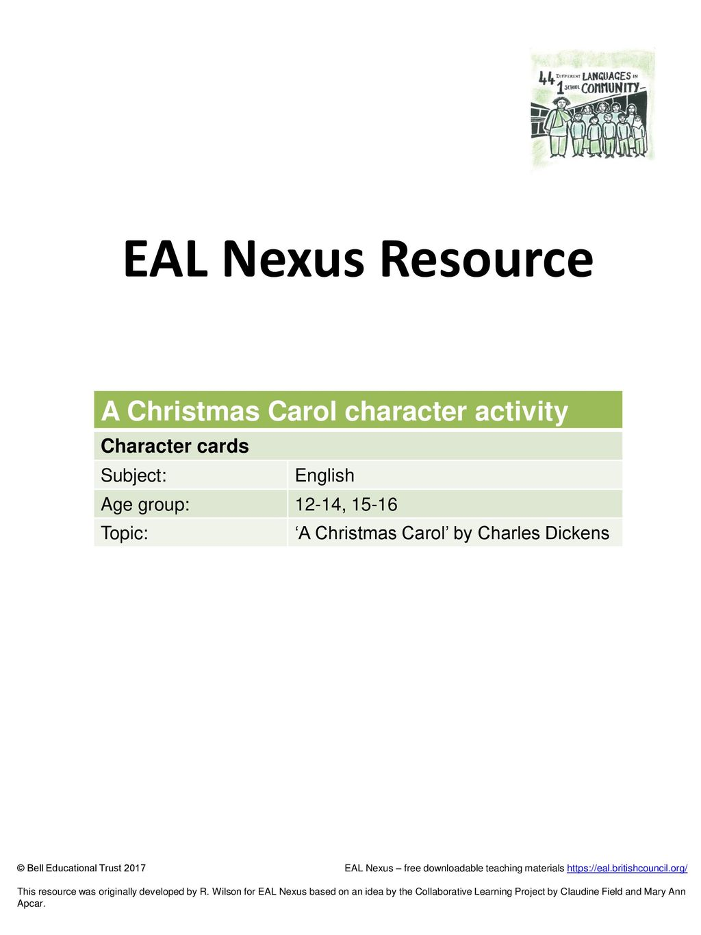 Teaching Resources Christmas Cards