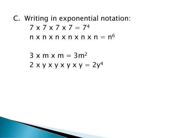 Exponential Notation ppt download