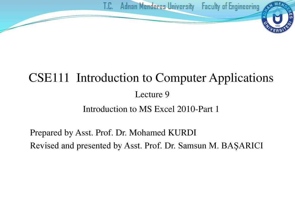 Cse111 Introduction To Computer Applications