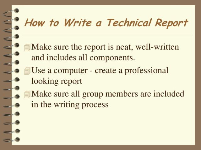 How to Write a Technical Report - ppt download