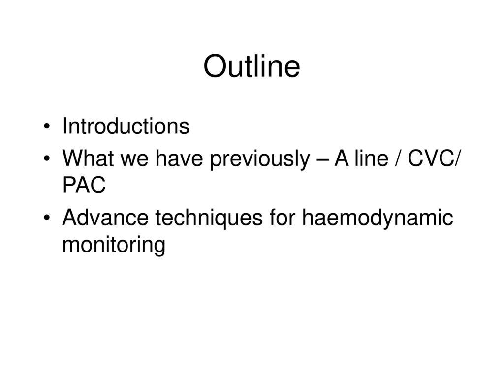 Advance In Hemodynamic Monitoring