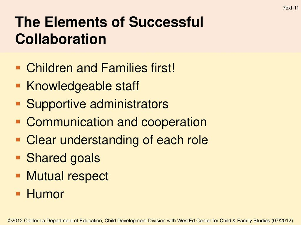 Important Elements of Successful Collaboration