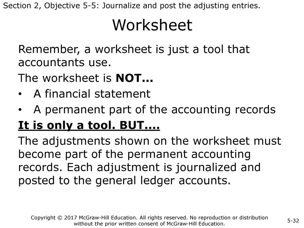 Parts Of A Worksheet In Accounting