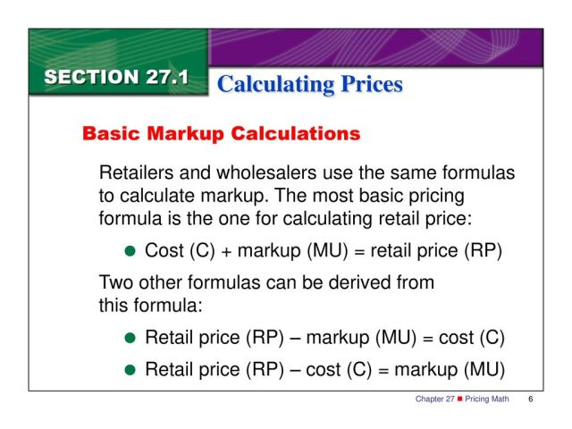 Marketing Essentials Calculating Prices. - ppt download