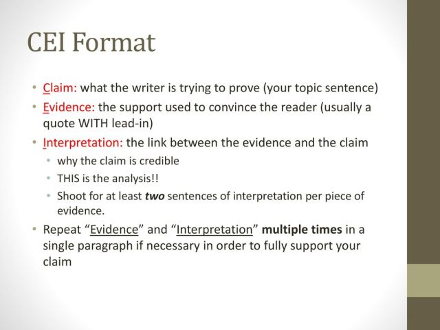 Writing with CEI. - ppt download