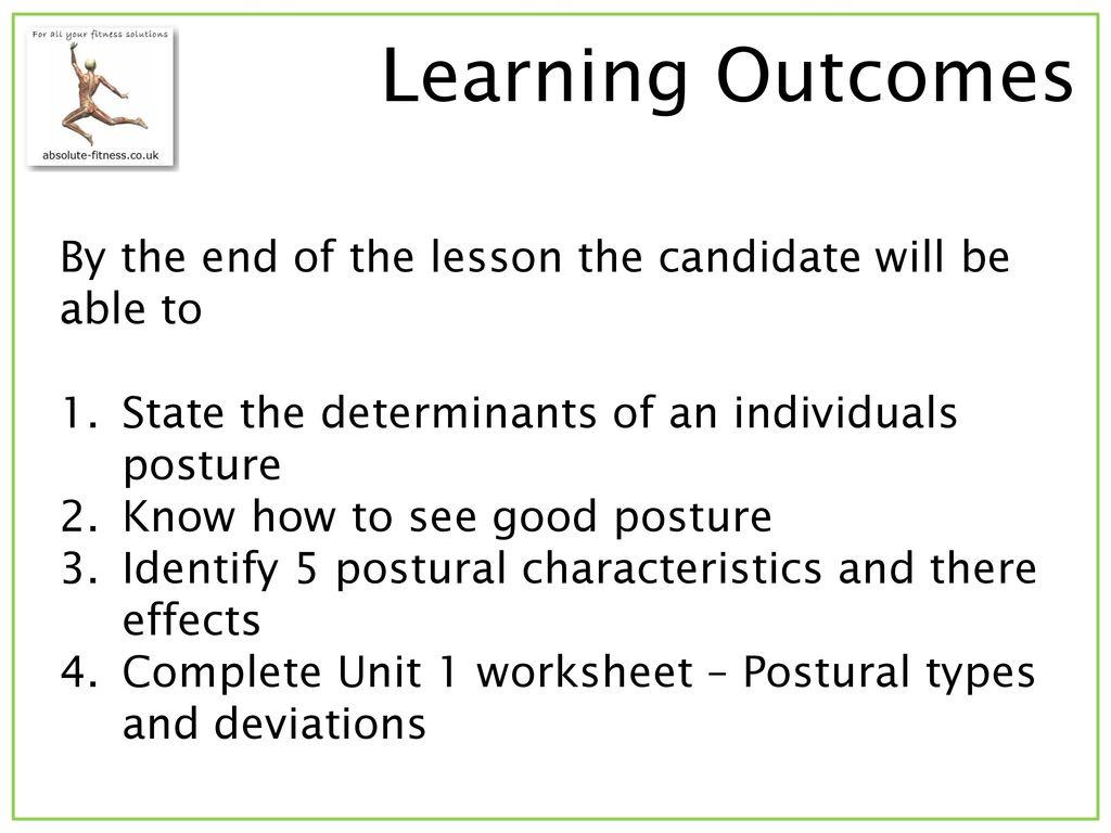 Lesson 1 Unit 1 Postural Types Amp Deviations