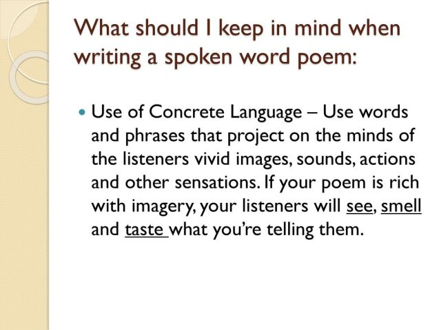 How To Write Spoken Word Poetry Step By Step