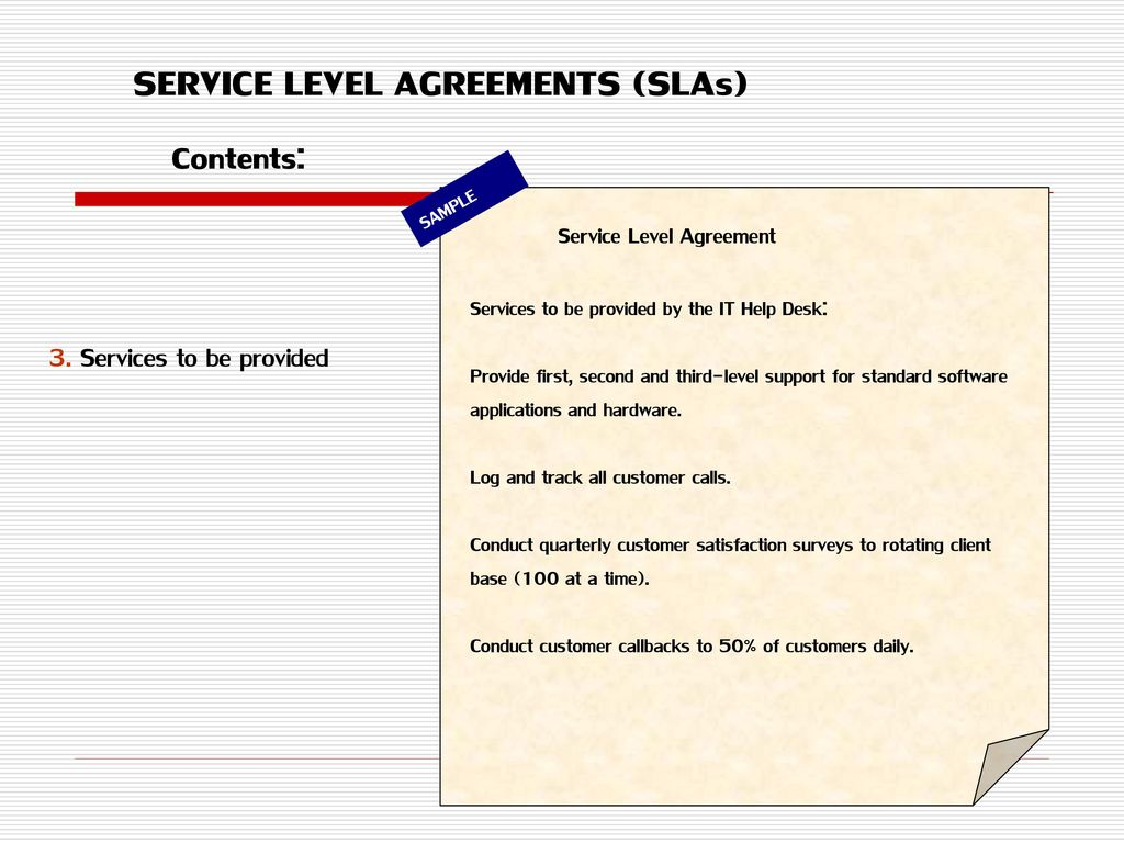 This agreement remains valid until superseded by a revised agreement mutually endorsed by the stakeholders. Managing Expectations And Sla Ppt Download