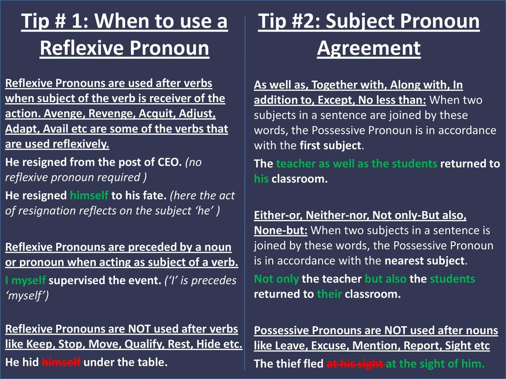 Grammar Rules And Tips For Using Pronouns