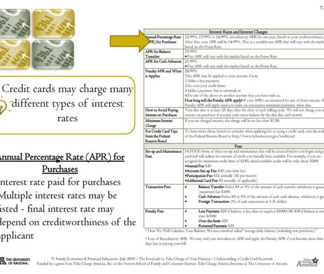 Credit Cards May Charge Many Different Types Of Interest Rates