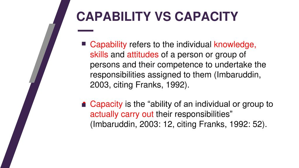 Kapabilitas vs Kapasitas