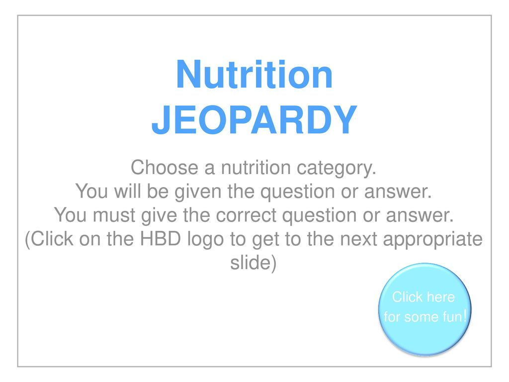 Nutrition Jeopardy Questions And Answers Blog Dandk