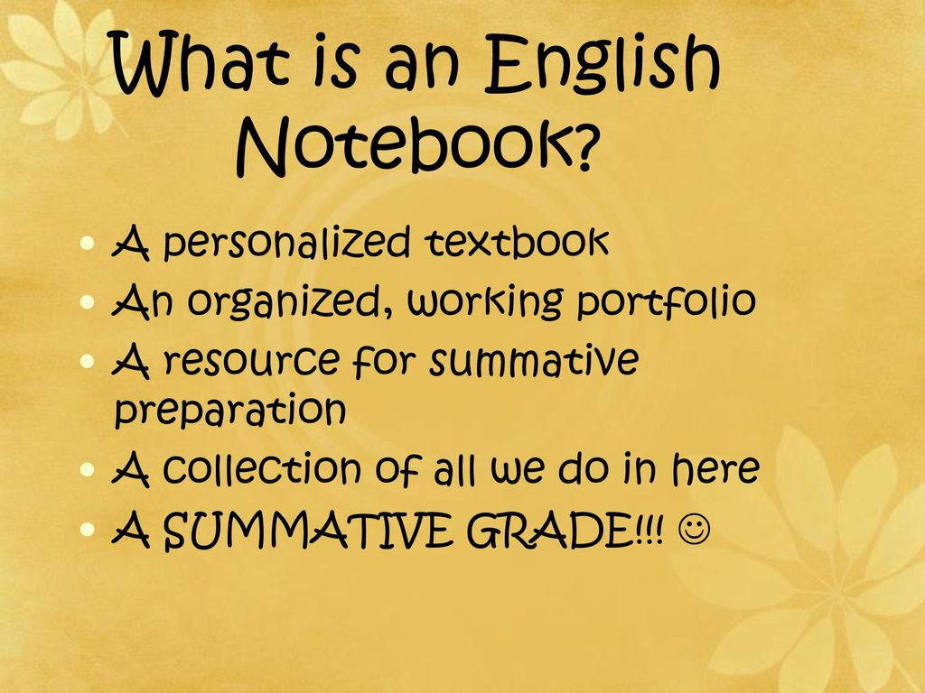 Interactive English Notebook