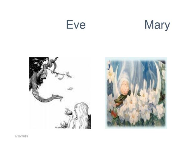 Mary New Eve and old Eve
