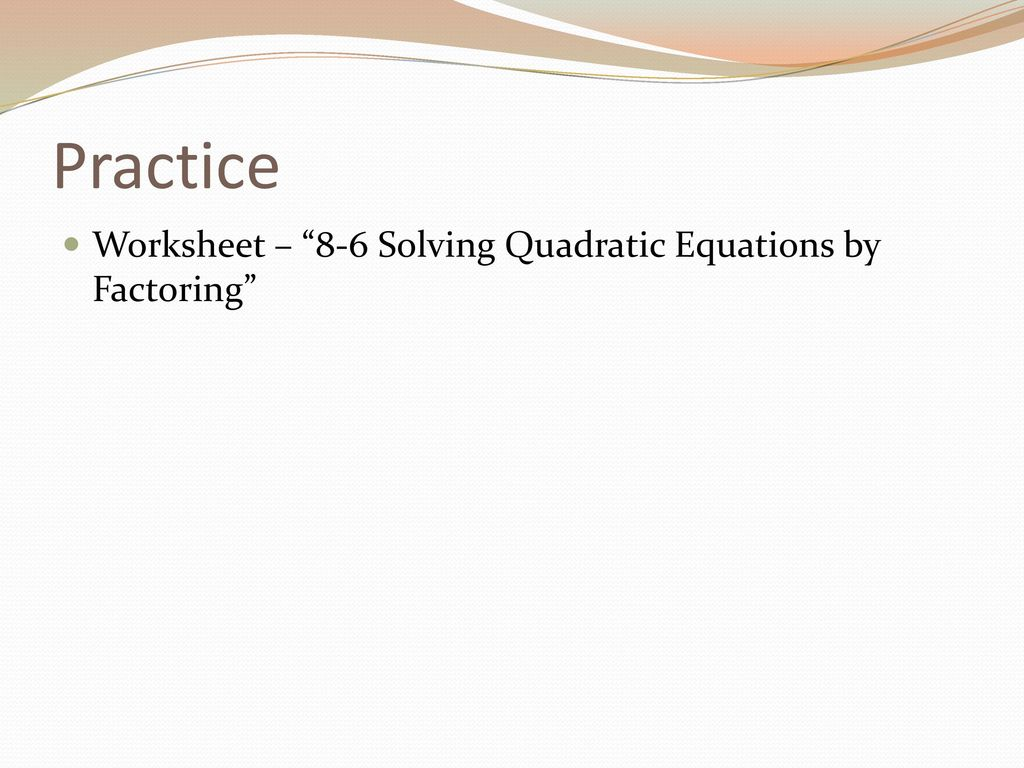 Printables Of Quadratic Equations Factorisation Worksheet