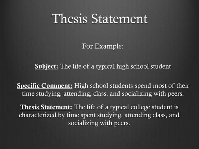Thesis Statements. - ppt download