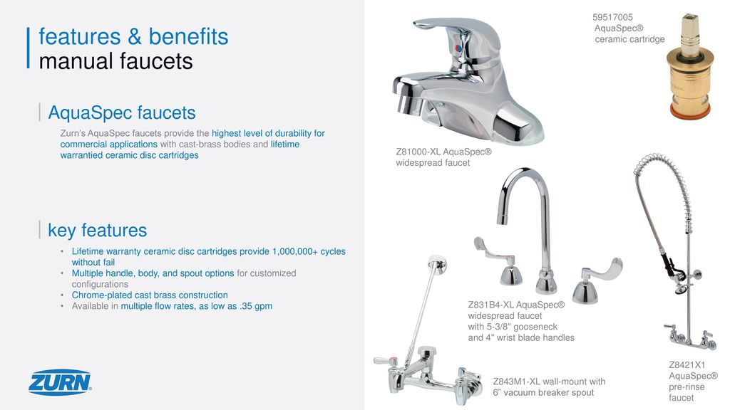 zurn faucets overview ppt download