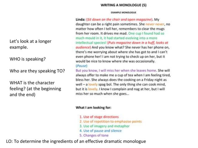Lesson One: What is a monologue? - ppt download