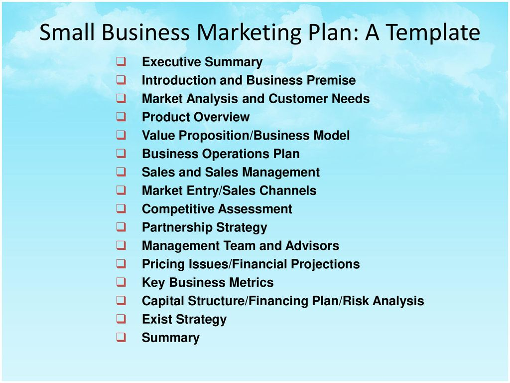 Include budgets and action plans. Creating A Small Business Marketing Plan Ppt Download